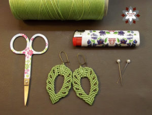 Macrame earring tutorial