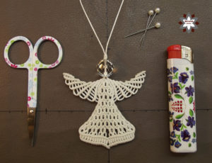 Macrame tutorial angel ornament