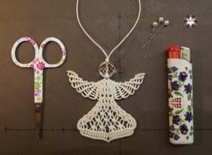 Macrame knotted angel ornament tutorial