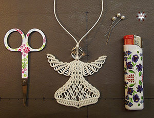 Macrame knotted angel tutorial instructions steps