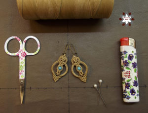 Macrame knotting earring tutorial