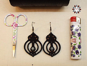 Micro-macrame knotted earring tutorial