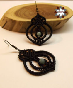 Micro-macrame earring tutorial