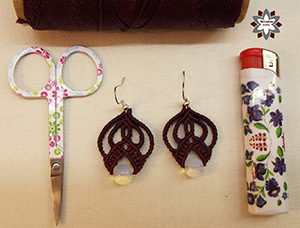 Micro-macrame knotted earring DIY