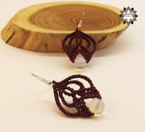Macrame knotted earring tutorial DIY