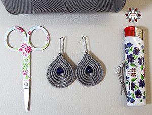 Macramotiv macrame knotted earring tutorial DIY migramah makramé macramé jewellery fülbevaló textile instructions howto steps stepbystep loop