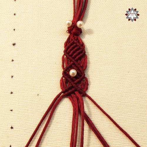 Macramotiv macrame bracelet tutorial DIY knotting