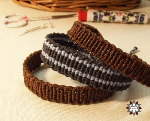 Macramotiv micro-macrame knotted bracelet tutorial photo instructions steps DIY how to knotting migramah friendship bracelet