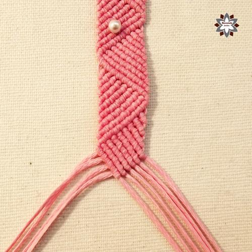 Macramotiv Micro-macrame knotted bracelet DIY tutorial how to knotting friendship bracelet instructions migramah csomózott karkötő