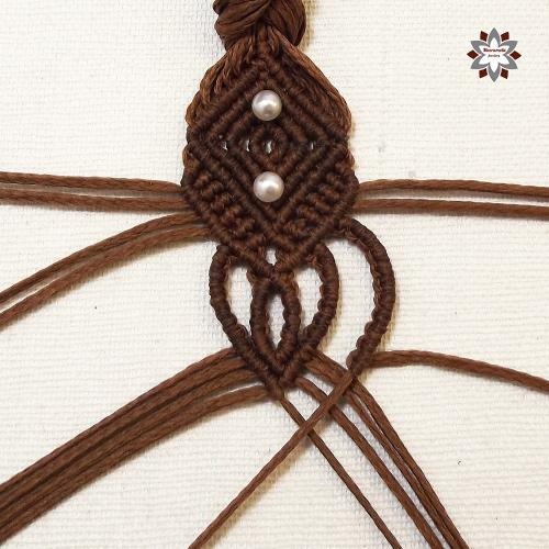 Macramotiv micro-macrame knotted bracelet tutorial DIY steps knotting instructions how to knot step-by-step migramah macrame school macrame learning makramé karkötő csomózott csomózás