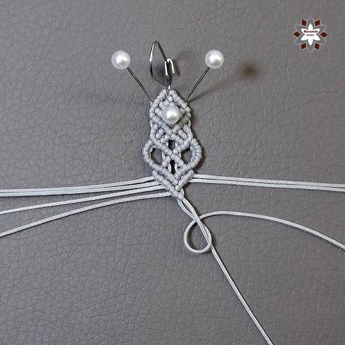 Macramotiv micro-macrame knotted earring tutorial diy instructions howto knotting macramé makramé fülbevaló csomózás csomózott ékszer leírás migramah