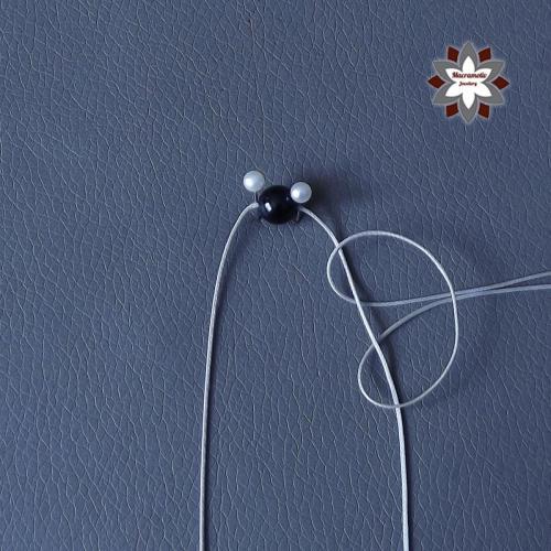 Macramotiv micro-macrame knotted earring tutorial diy instructions howto knotting macramé makramé fülbevaló csomózás csomózott ékszer leírás migramahDSCF5691