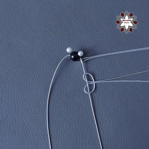 Macramotiv micro-macrame knotted earring tutorial diy instructions howto knotting macramé makramé fülbevaló csomózás csomózott ékszer leírás migramah698