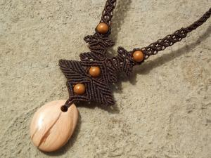 Macrame, knotted necklace, micro-macrame made by Macramotiv