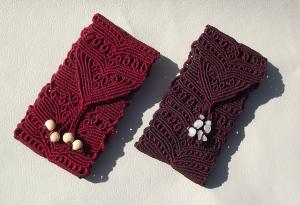 Macrame, knotted mobile cases, micro-macrame made by Macramotiv