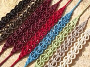 Macrame, knotted bracelets, micro-macrame made by Macramotiv